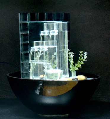 An Indoor Glass Fountain