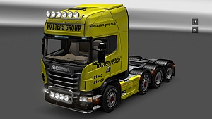 Walters Group Scania Topline - skin + tuning