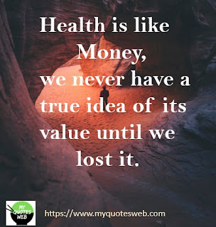 Health is like money, | health quotes