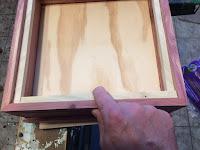 Attaching the last birch strip