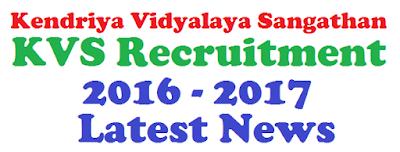 KVS 10000 Teacher Recruitment 2017