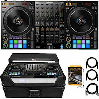 Pioneer DDJ-1000 4-Channel Professional rekordbox DJ Controller & Black ATA Case