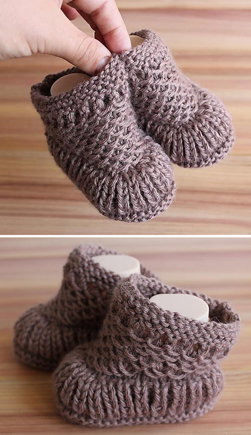 Warm Baby Booties - Free Knitting Pattern