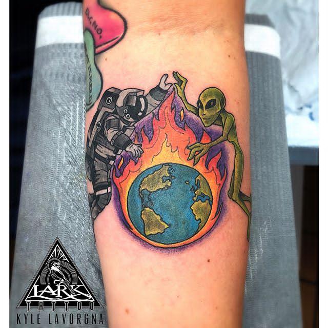 earth wind fire tattoo
