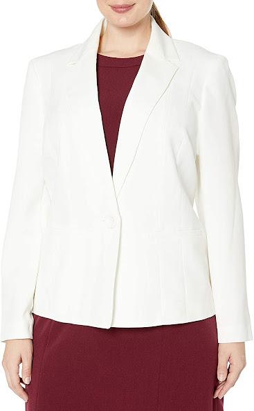 White Plus Size Blazers For Women