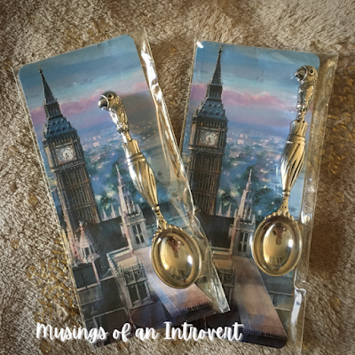 Mary Poppins tea spoons gifted during the Rose & Crown Pub tea experience in Epcot UK