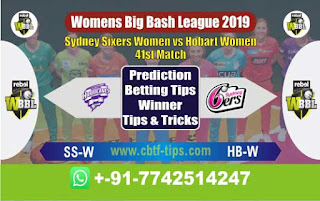 Who will win Today WBBL 2019, 41st Match Hobart vs Sixer, WBBL T20 2019