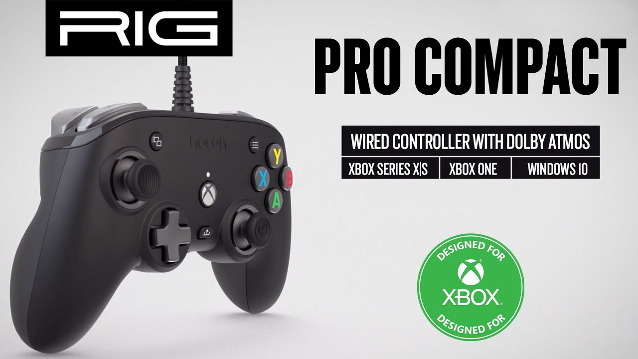 RIG PRO COMPACT, WORLD'S FIRST DOLBY ATMOS XBOX CONTROLLER, OUT NOW IN NORTH AMERICA