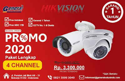 Paket 4 Chanel Jasa pasang CCTV Sidoarjo