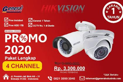 Paket 4 Chanel Jasa Pasang CCTV  Sidoarjo Jawa Timur