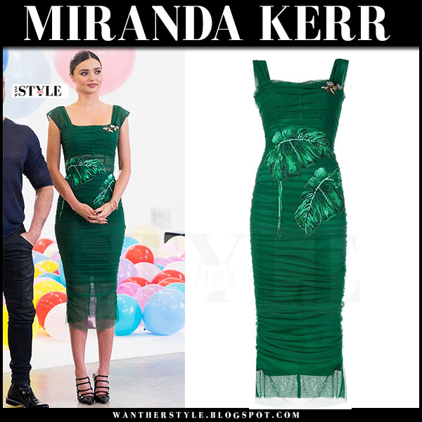 Miranda Kerr in green tulle dress australias next top model what she wore