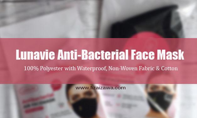 Lunavie Anti-Bacterial Face Mask selesa dan mudah untuk dicuci