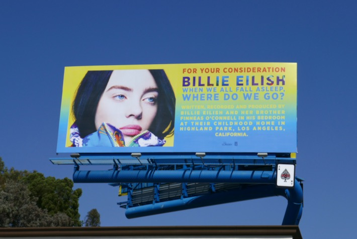 Billie Eilish consideration 2019 billboard