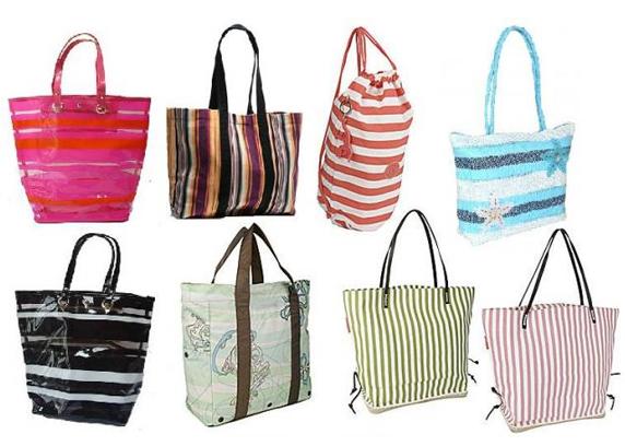 Modelos diversos de bolsas de praia femininas