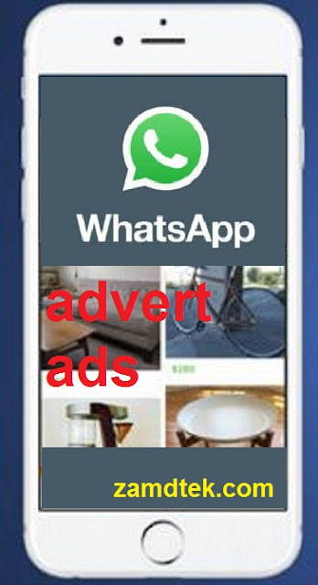 Whatsapp to start showing ads (advert) on the whatsapp app.