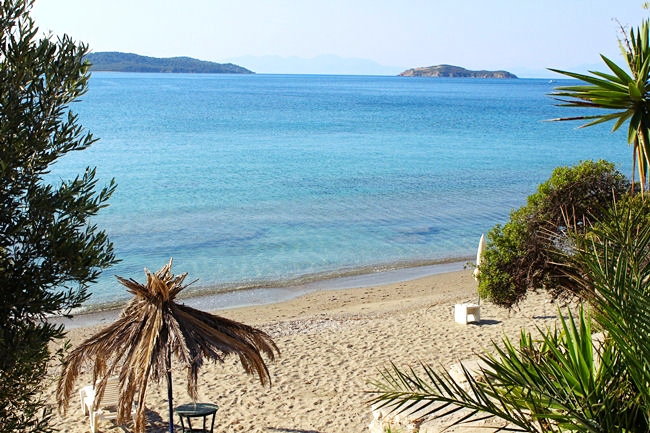 Megali Ammos beach Skiathos island Greece