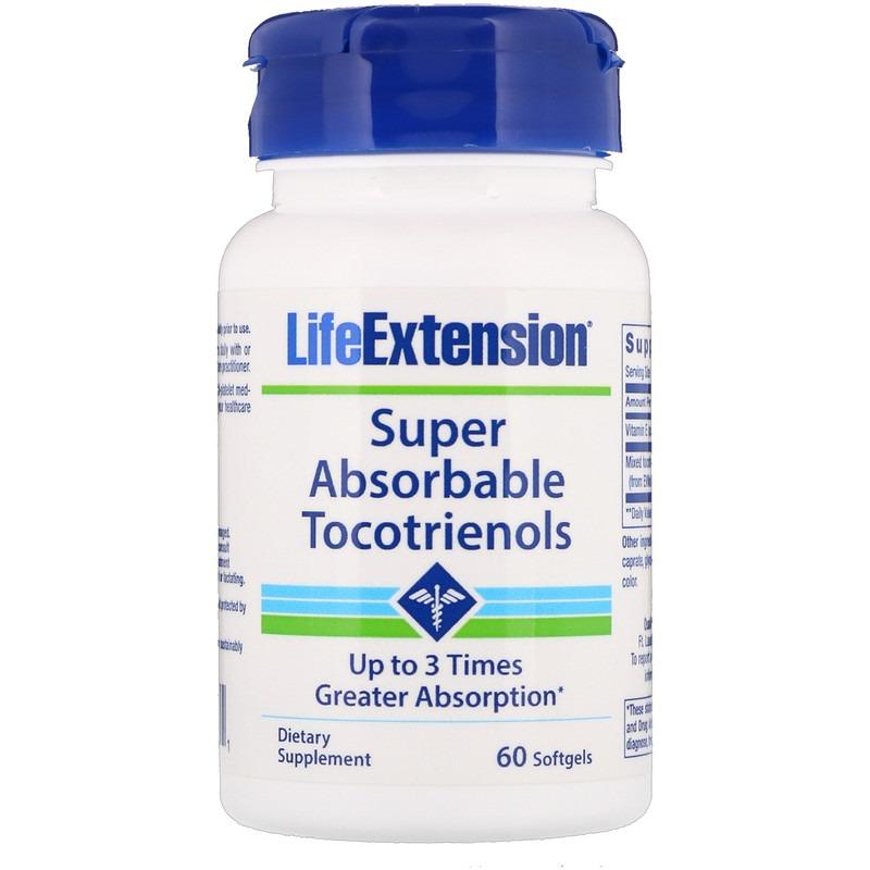 Life Extension, Супер-поглощаемые токотриенолы, 60 капсул