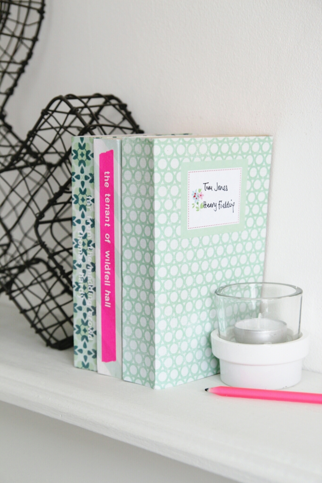 Paper Book Cover Diy : Diy scrapbook paper book covers gathering beauty