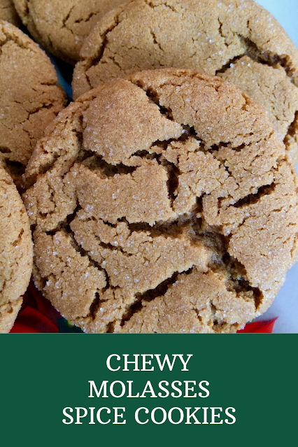 Close-up of a finished chewu molasses spice cookie.