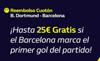 william hill Reembolso champions Dortmund vs Barcelona 17-9-2019
