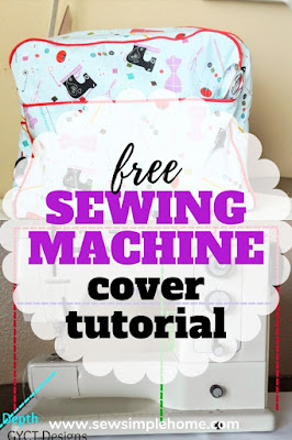 Learn step by step how to sew a custom sewing machine cover pattern for your sewing machine.  No matter what brand or style you have.