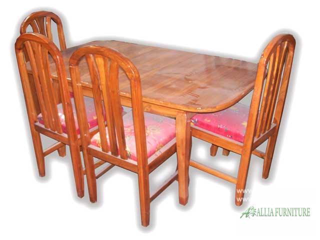 kursi meja makan kayu jati set oval