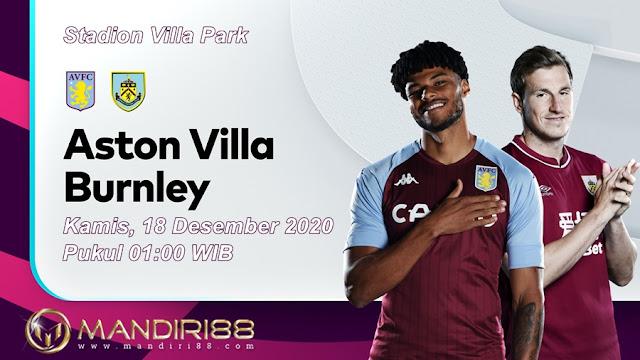 Prediksi Aston Villa Vs Burnley, Kamis 18 Desember 2020 Pukul 01.00 WIB @ Mola TV