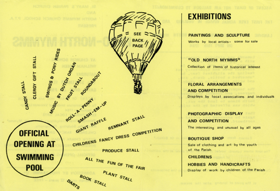 Expo North Mymms pamphlet 1970 Image from D. Cooper part of the Images of North Mymms collection