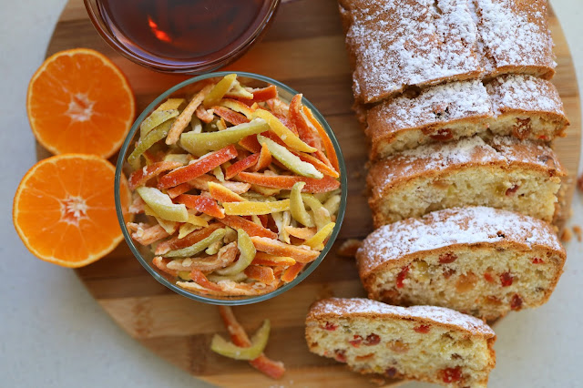 Cupcake with candied citrus peels