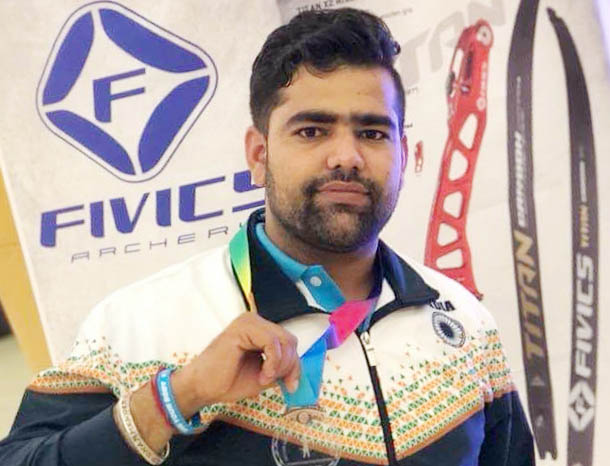 Palwal player Dharmendra wins medal in World Archery Championship
