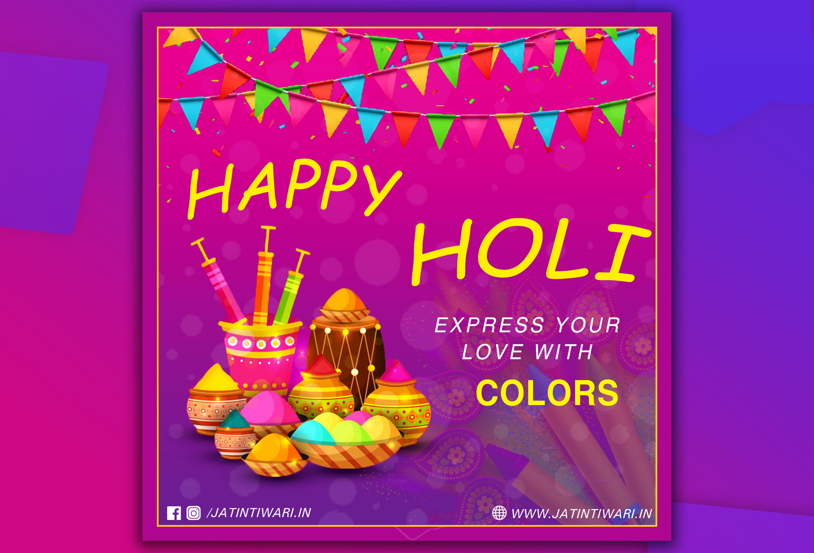 Holi Festival Post Design
