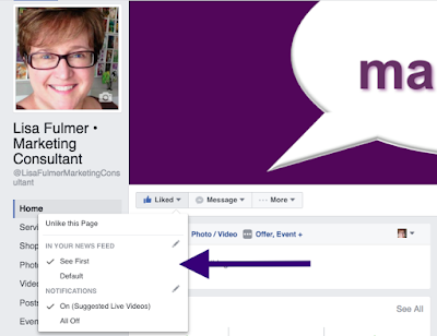facebook newsfeed settings for business pages