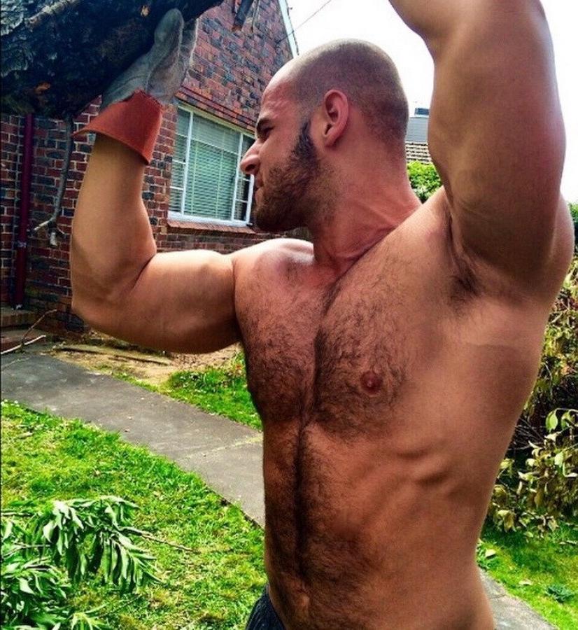 bald-hairy-bare-chest-hard-working-daddy-mechanic-dilf