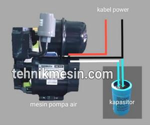 cara+pasang+kapasitor+pompa+air