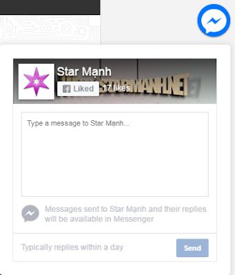 Hướng Dẫn Sự Dụng Và Cài Đặt ChatBox Messages Facebook Cho Blogger