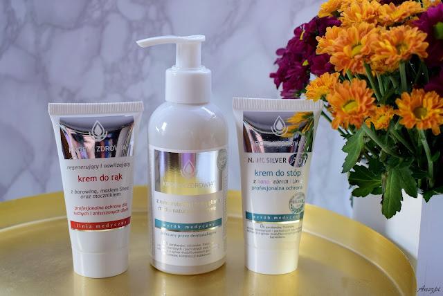 Kosmetyki medyczne marki Kropla Zdrowia: krem do rąk, krem do stóp i mydło