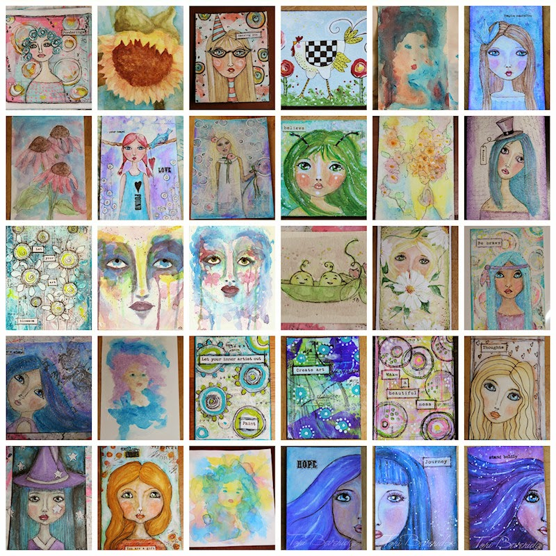 Thirty Paintings in 30 Days Collage by Tori Beveridge