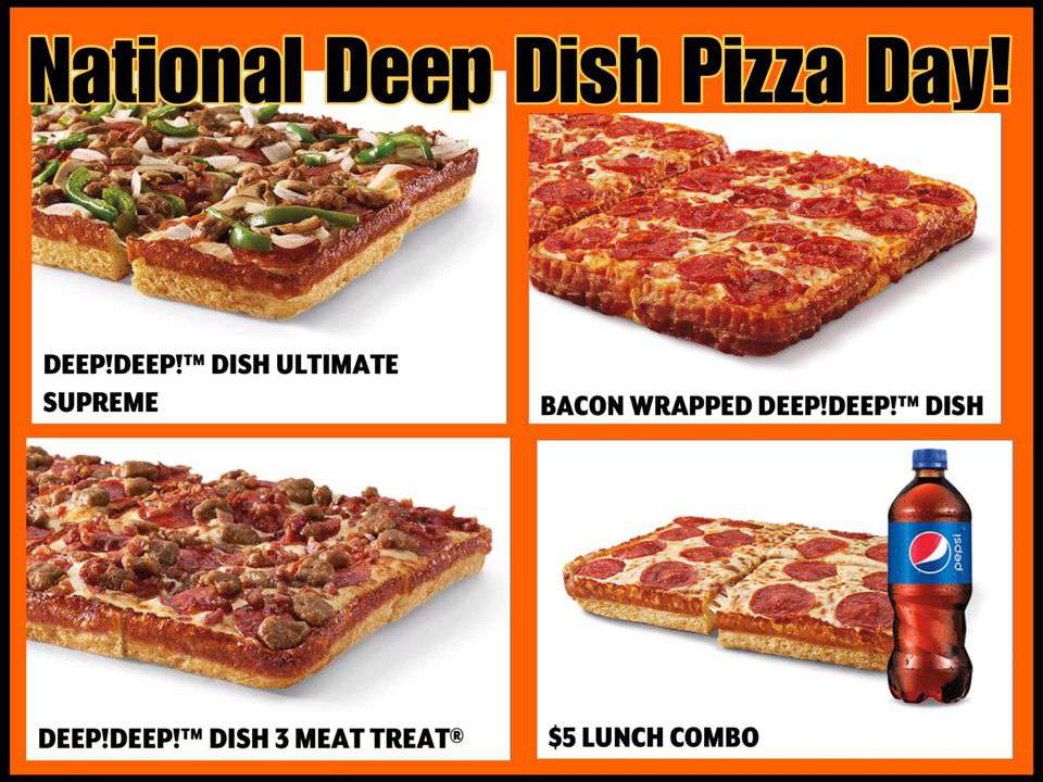 National Deep Dish Pizza Day Wishes Beautiful Image
