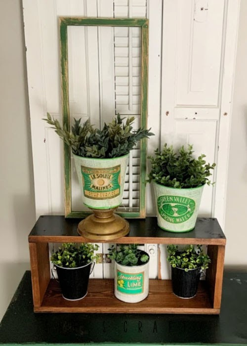 Faux Vintage Can Display  |   display faux vintage cans with faux greenery for home decor