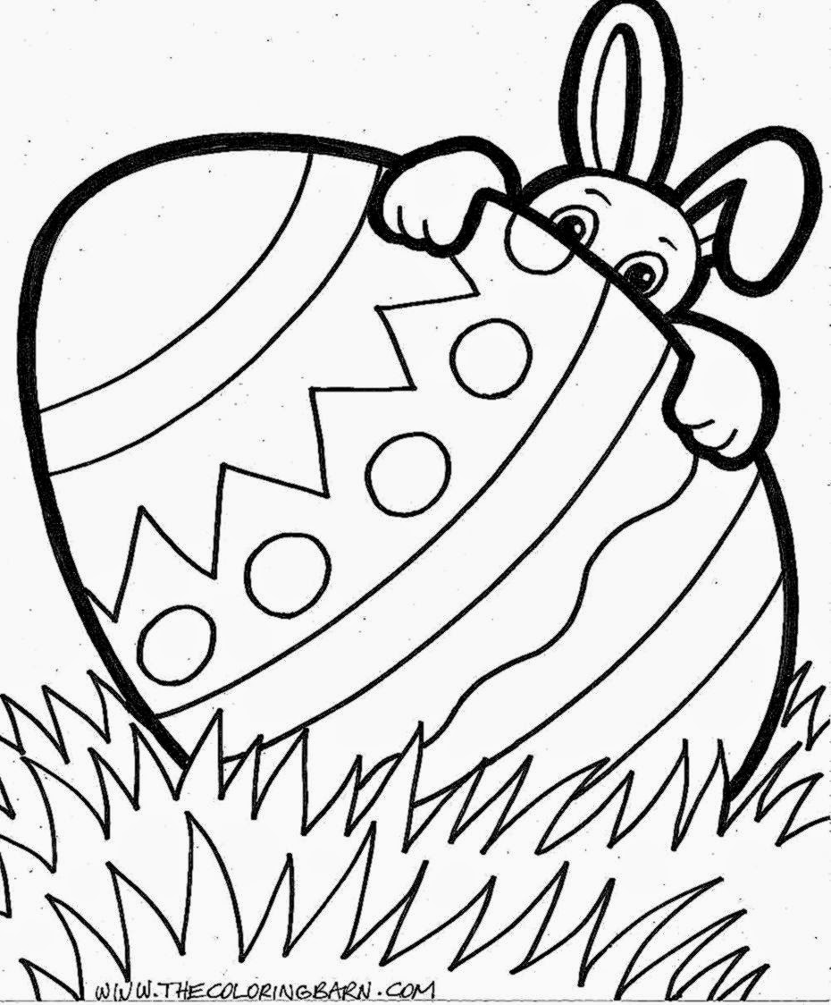Easter Bunny Coloring Pages To Print. happy easter coloring pages ...