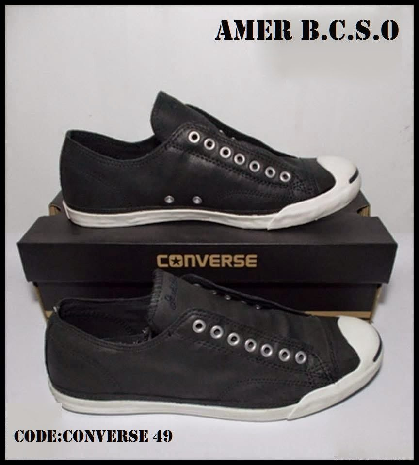SEPATU ORIGINAL JOGJA  CONVERSE JACK PURCELL LEATHER OX BLACK 43dfffb883