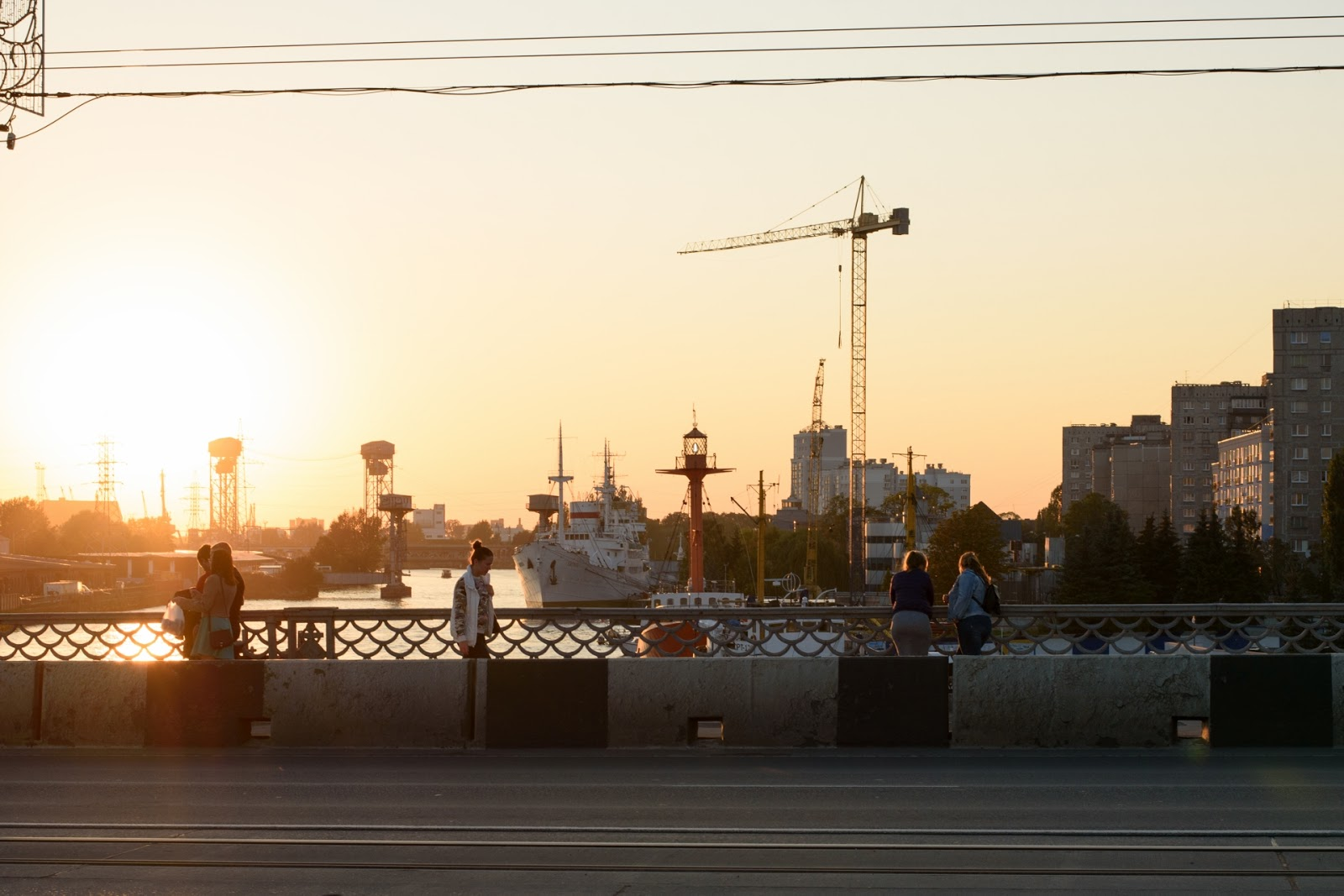 Вид с моста в Калининграде