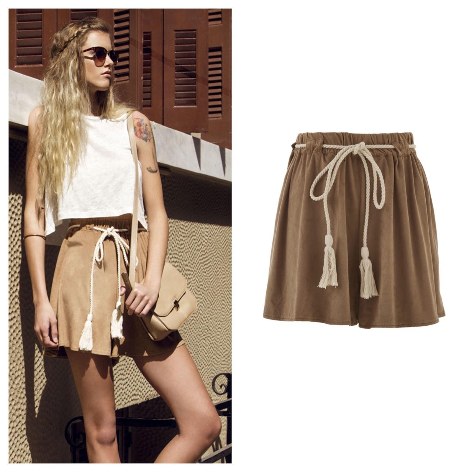 9fb699d3ea92 The Brown Faux Suede Shorts
