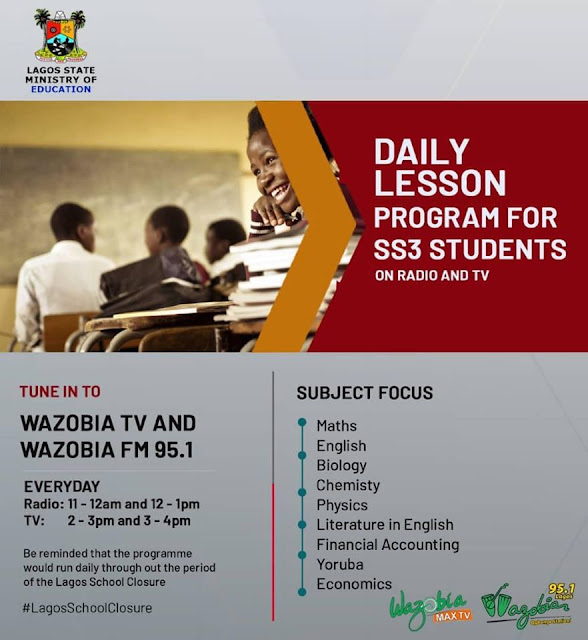 Lagos State Daily Lesson Program for SS3 Students | Radio & TV