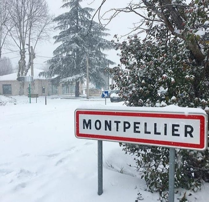 [Photos] Montpellier sous la neige le 28 février 2018 : le replay