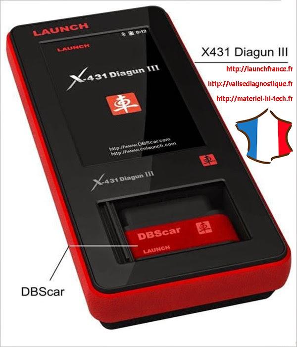 Launch X431 Diagun III valise diagnostic automobile multimarque en