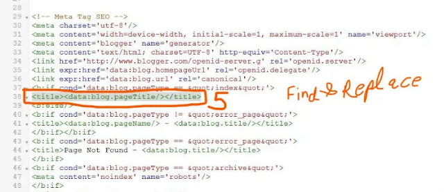 Find and replace code