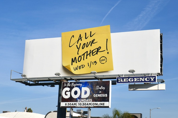 Call Your Mother Post-it note billboard