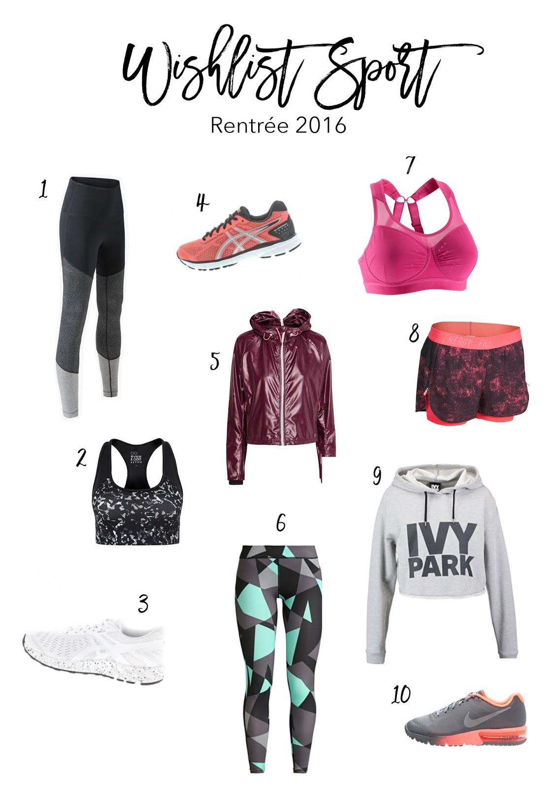 wishlist sport tenue basket leggings pantalon mode lifestyle blog lucileinwonderland adidas nike TBC
