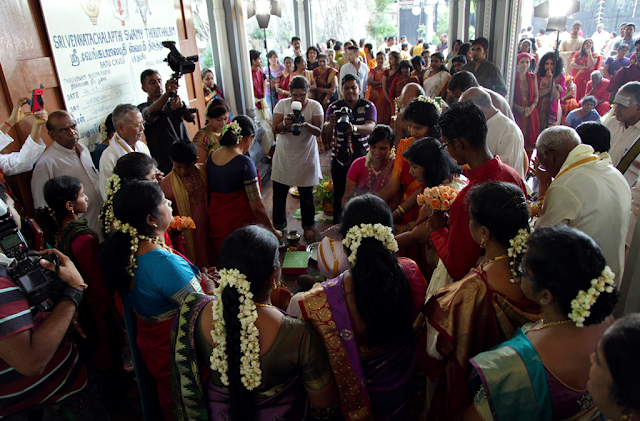 Indian wedding crowd